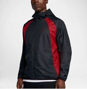 d5aca7d1df15 Image is loading Nike-Jordan-JSW-Hooded-Windbreaker-Jacket-Hoodie-Black-