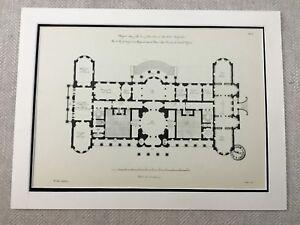 1931-Antique-Architectural-Print-Luton-Hoo-Robert-Adam-Neoclassical-Architecture