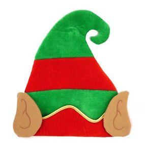 ed483d86046 ELF HAT WITH EARS GOLD STRIP CHRISTMAS SANTA HELPER RED GREEN XMAS ...