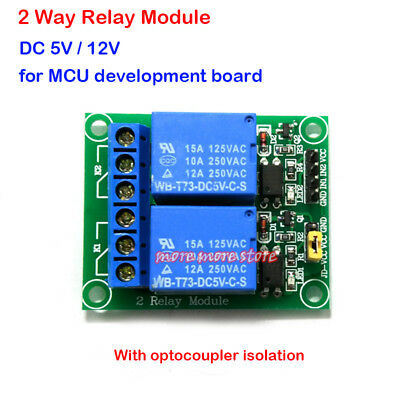 2 Channel Relay Module w//Optocoupler Isolation Protection Expansion Board //ND