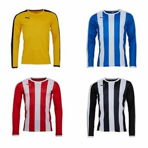 Puma-Long-Sleeve-Football-Shirt-Mens-Soccer-Jersey-Top-T-Shirt