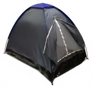 GRAY-DOME-CAMPING-TENT-7x5-039-2-Person-Two-Man-GRAPHITE-BLUE-Sealed-Bottom-NEW