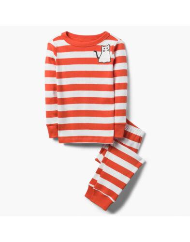 NWT Gymboree Halloween Ghost Kitty Cat Stripe Gymmies Pajamas PJs Girls