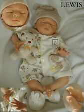 Nicery Reborn Baby Doll Soft Silicone Girl Toy 22in. 55cm Sleeping Lewis