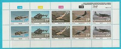 Loyaal Südafrika Aus 1990 ** Postfrisch Minr. 252-256 2 Mal 5er Streifen Luftwaffe Obstructie Verwijderen