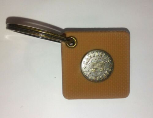 #9191 Carhartt Key Chain Ring Brown Rubber with Metal Button