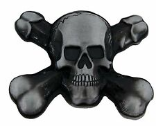 Skull Belt Buckle Crossbone Antiqued Metal Gothic Tribal Tattoo Lucky Fashion US