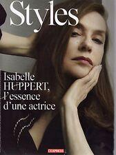 L'Express Style :  Isabelle Huppert, Nathalie Portman, Léa Seydoux, B. Palvin