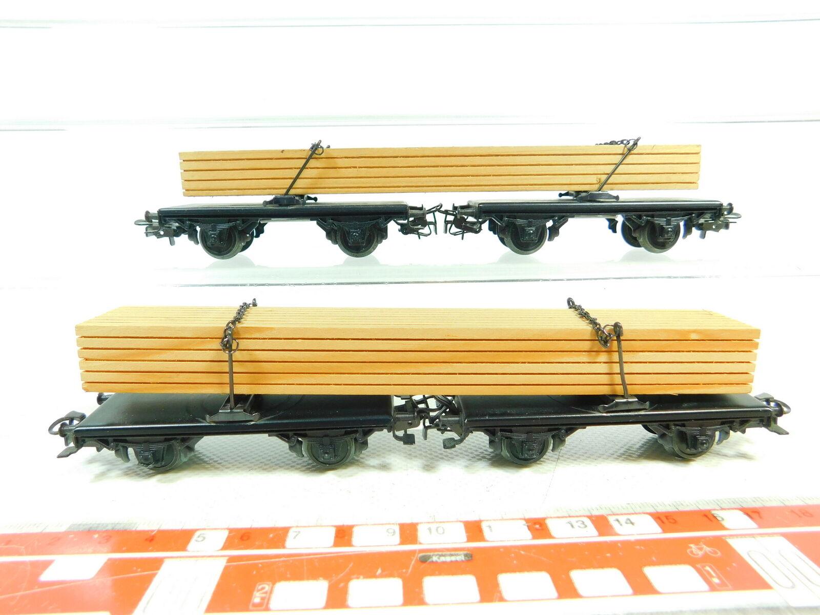 Bs837-0, 5 x Märklin h0 ac 4512 Wagon Wood Long goods Axis trunk