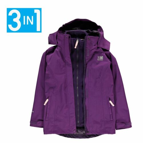 Kids Boys Karrimor Charcoal 3 Infants Jacket Junior 3in1 Waterproof New