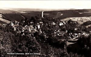 Moorbad-Lobenstein-Blick-vom-Geheeg-Ansichtskarte-1971-gelaufen