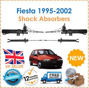 Para-Ford-Fiesta-Mk-IV-1995-2002-Dos-Frontal-amp-2-Amortiguadores-Traseros-Set-Par