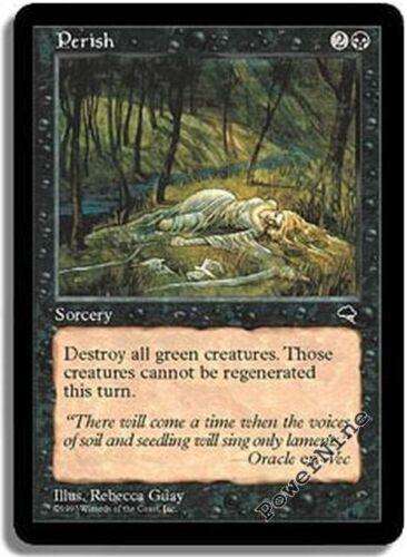 4 PLAYED Perish Black Tempest Mtg Magic Uncommon 4x x4