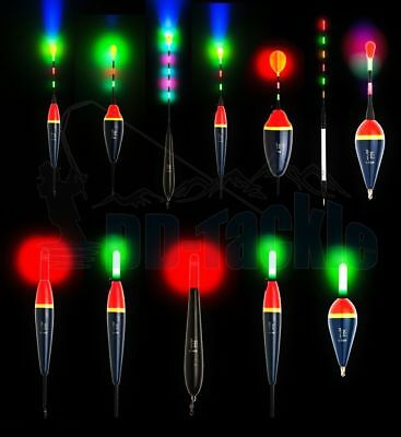 Elektrische LED-Posen Posen Waggler Durchlauf Stipp Forellenposen Elektroposen