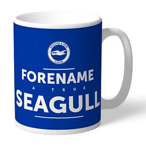 Brighton & Hove Albion F.c - Personalised Ceramic Mug (true)