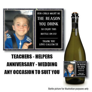 PERSONALISED-WINE-PROSECCO-BOTTLE-LABEL-TEACHER-REASON-YOU-DRINK-CHRISTMAS-048