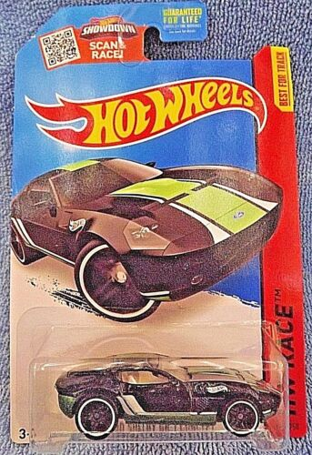 2015 Hot Wheels #178 HW Race-Track Aces FORD SHELBY GR-1 CONCEPT Black Variant