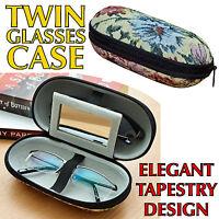 Secure Hard Glasses Case Tapestry Design Soft-lined Spectacles Eyeglasses Specs