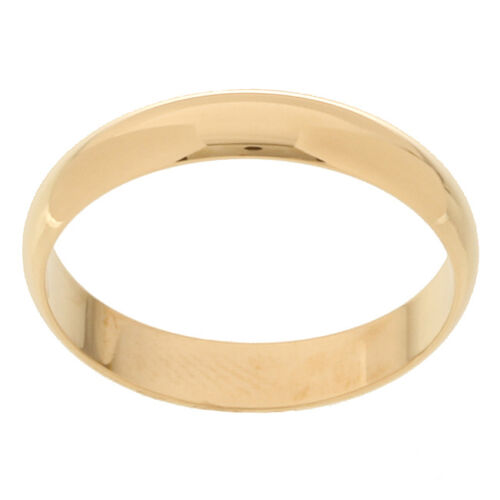 10k Solid Yellow Gold 4mm Size 10 Plain Mens and Womens Wedding Band Ring 4 MM