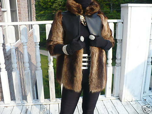 S Custom Swing 8 Leather Raccoon Fur 6 m Coat Designer 0 Jacket Unique E8dwq8
