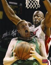 Brian Scalabrine Boston Celtics Signed Autographed Action vs Miami Heat 8x10