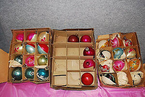 1-Lot of 29 Assorted Vintage Glass Christmas Balls (Some Hand-Painted) (# X854)