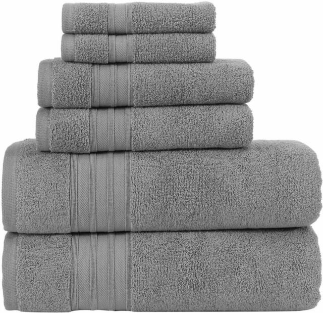 Hammam Linen Towels 13x13 6 Piece Set Wash Cloths, Sea Salt