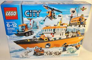 LEGO-City-Arctic-Icebreaker-boat-60062-Set-717-Piece-7-Minifigures-NEW-Huskies