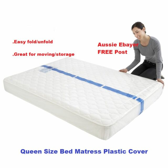 Queen Size Bed Mattress Protector Plastic Protection Cover Moving