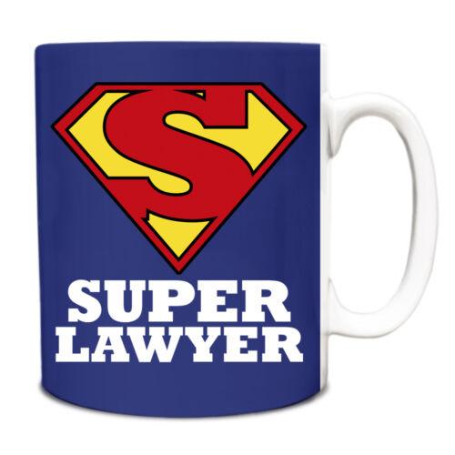 Royal Bleu Super avocat Hero Nouveauté titre du poste Tasse Drôle 118