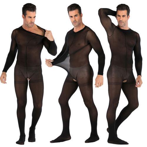 Männer Netz Durchsichtig Körper Strumpf Body Overalls Unterwäsche Playsuit Club