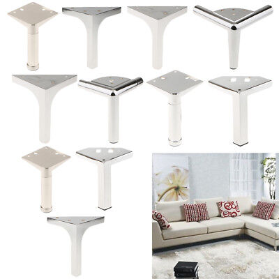 "4pcs Silver Steel Furniture Leg Metal Sofa feet Chair Cabinet Closet 4.33/"" H"