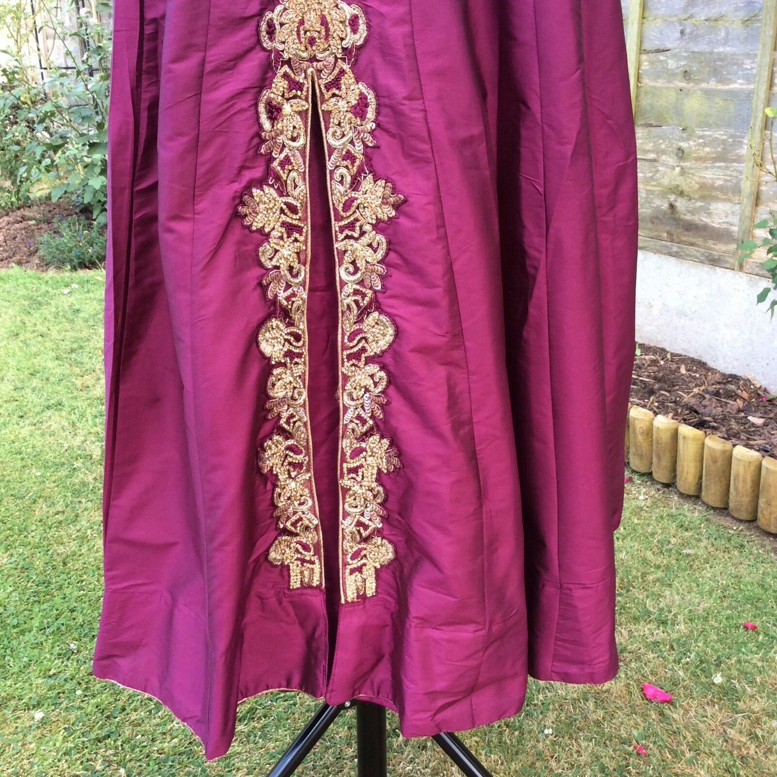 Dress- Plum- Silk- Long- Special Special Special occasion BNWT ab129f