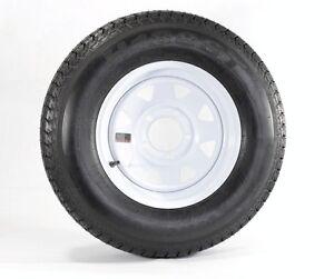 """Trailer Wheel & Tire #364 ST175/80D13 175/80 D 13"""" LRC 5 Bolt Hole White Spoke"""