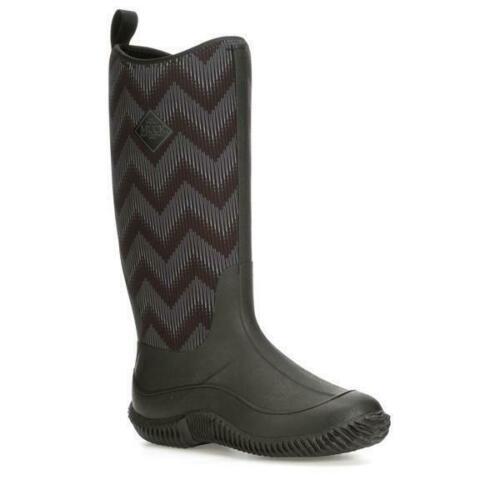 Muck Women/'s Hale Waterproof Neoprene Boots Black//Black Chevron