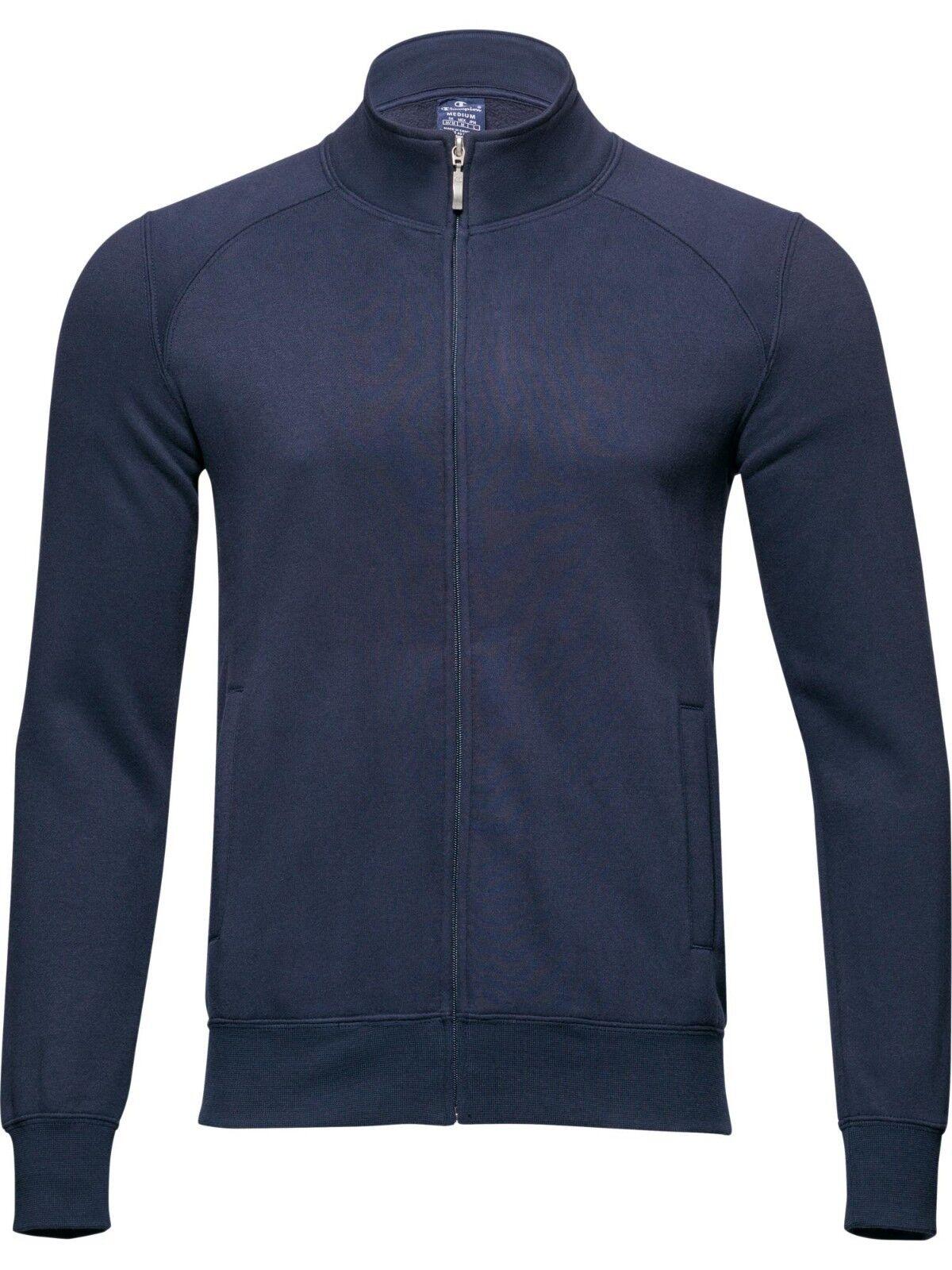 Männer Pullover FULLZIP Baumwolle Plüsch CHAMPION art. 211955 blau