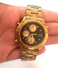 Vintage SEIKO CHRONOGRAPH 7T32-6E69 MANS WATCH RUNNING NEW BATTERY NO CROWN
