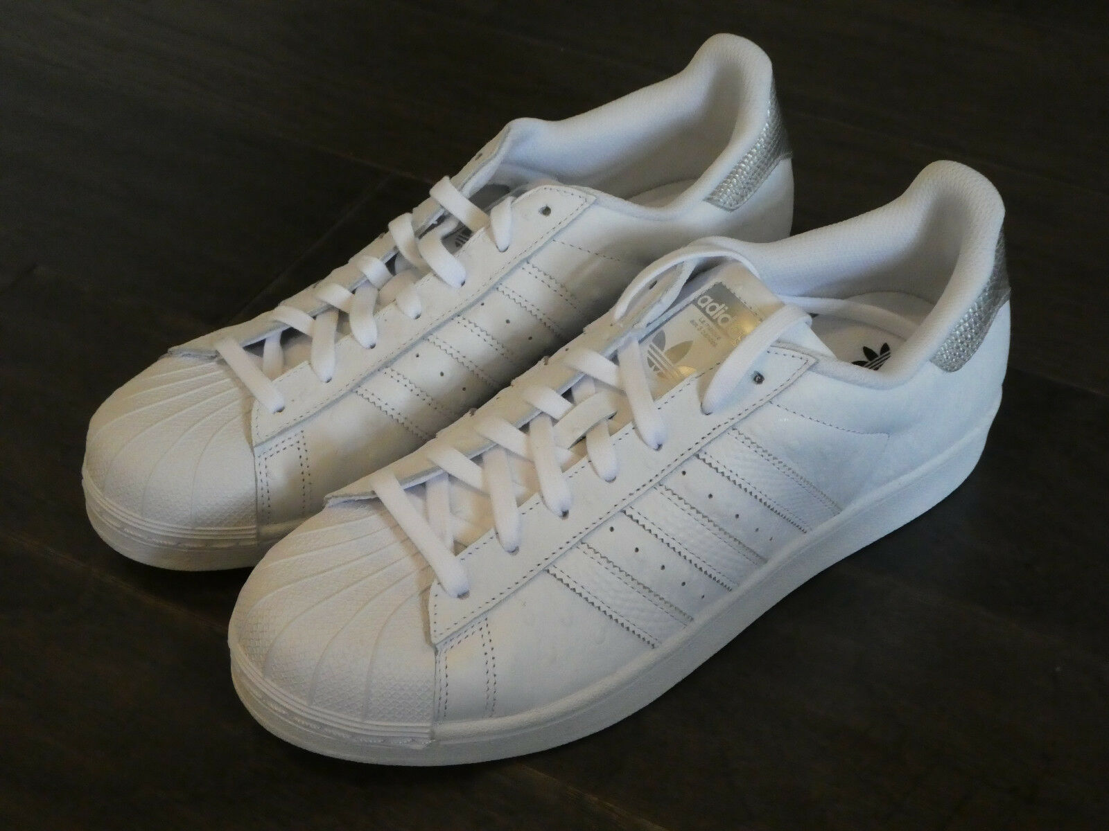 Adidas Superstar Shell Toe shoes new white leather men's sneakers trainer S80341
