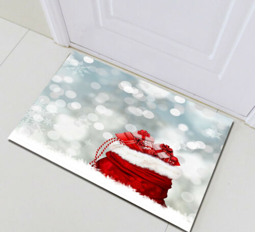 Xmas Present Bokeh Spot Bathroom Set Polyester Fabric Shower Curtain Hooks 72Ins