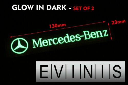 Mercedes Benz Brillan en Oscuridad Calcomanías Pegatinas Gráficos x2