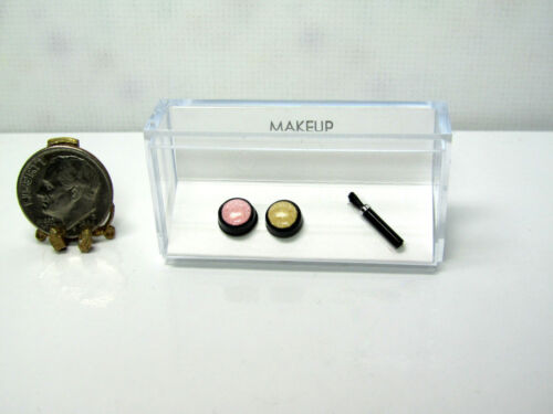 Brush Makeup Handcrafted Set Powder Dollhouse Miniature Blush
