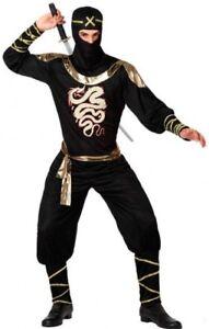 Deguisement-Homme-NINJA-XL-Costume-Adulte-chinois-japonais-NEUF-pas-cher