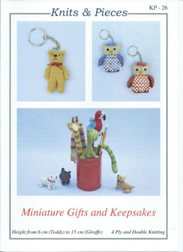 KP-26 Miniature Gifts /& Keepsakes Knits /& Pieces DK and 4 ply knitting pattern