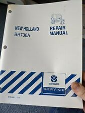 Genuine New Holland Br730 Br730a Round Hay Baler Repair Shop Service Manual