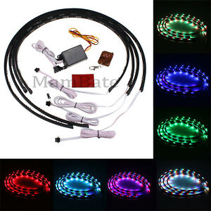 7 color led strip under car tube underglow underbody system neon lights kit ebay. Black Bedroom Furniture Sets. Home Design Ideas