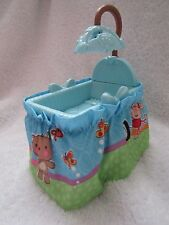 New! FISHER PRICE Loving Family Dollhouse BABY BOY BLUE BASSINET CRIB Mobile