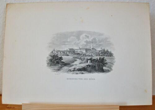 Bad Homburg vor der Höhe, Hessen - Original Stahlstich Grünewaldt nach Voigt