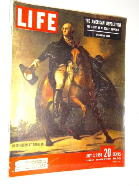 1950 Life Magazine July 3 George Washington at Trenton