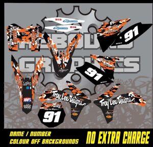 KTM 1999-2019 SX SXF XC EXC MOTORCROSS graphics kit 50 65 85 125 150 250 450
