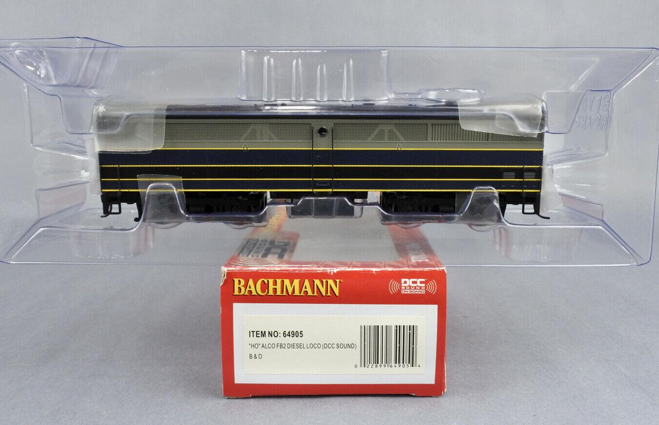 BACHMANN HO SCALE 64905 B&O ALCO FB2 DIESEL ENGINE DCC SOUND -B